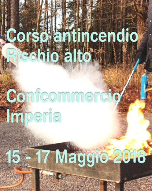 Corso di aggiornamento antincendio rischio ALTO in Confcommercio Imperia