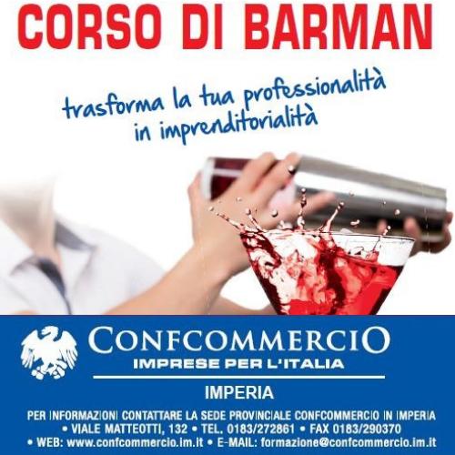 Dal 15 ottobre a Sanremo il corso che vi trasforma in barman professionisti