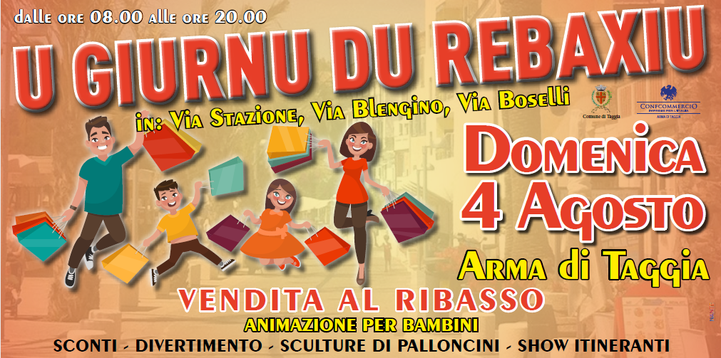 Torna U Giurnu Du Rebaxiu, la giornata delle svendite di Arma di Taggia