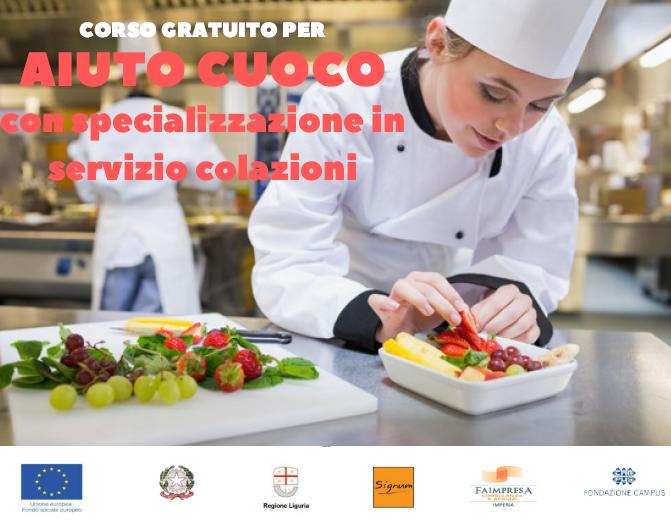 """Aperte le iscrizioni al corso gratuito """"Aiuto Cuoco con specializzazione in servizio colazioni"""". Un'opportunità anche per le imprese"""