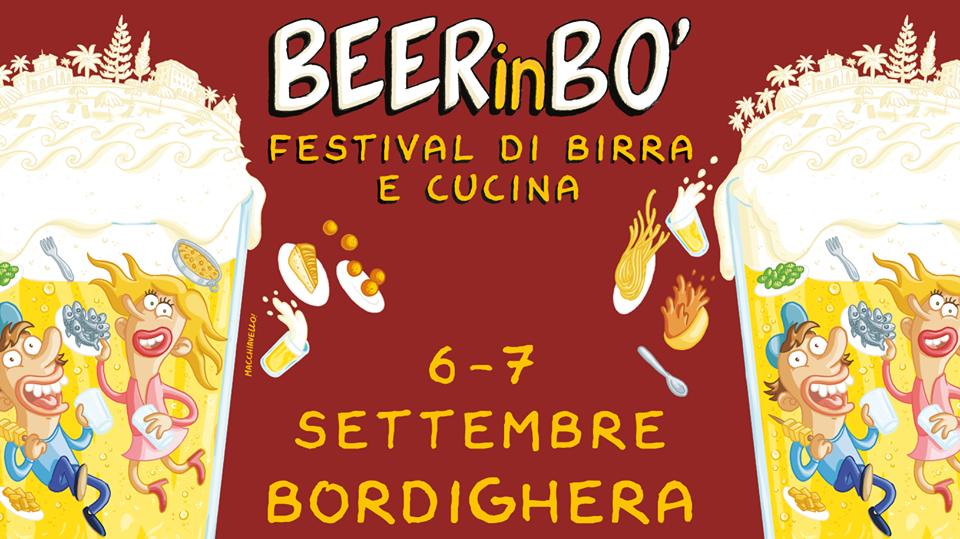 Il 6 e 7 Settembre torna a Bordighera BEERinBO', il Festival di Birra e Cucina