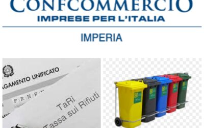 Dalla Confcommercio della Provincia di Imperia un appello ai Comuni per ottenere una riduzione della Tari per gli esercizi commerciali in crisi