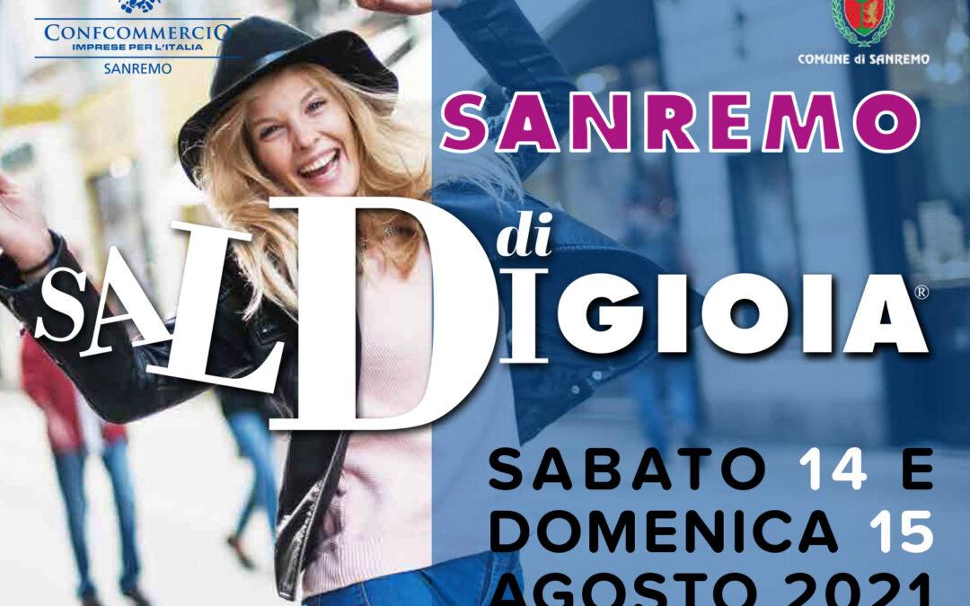 """Sabato 14 e domenica 15 agosto a Sanremo """"Saldi di Gioia"""""""